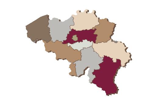 Cultural Illustrations Map of Belgium Artwork