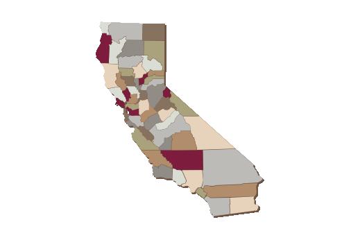 Cultural Illustrations Map of California Artwork