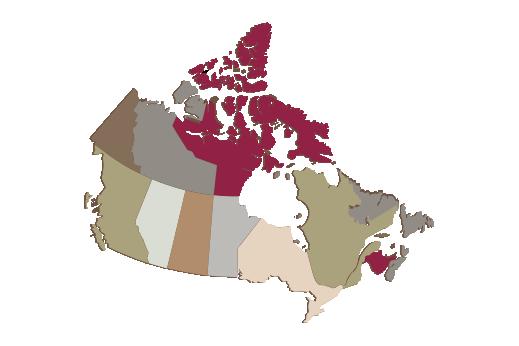 Cultural Illustrations Map of Canada Artwork