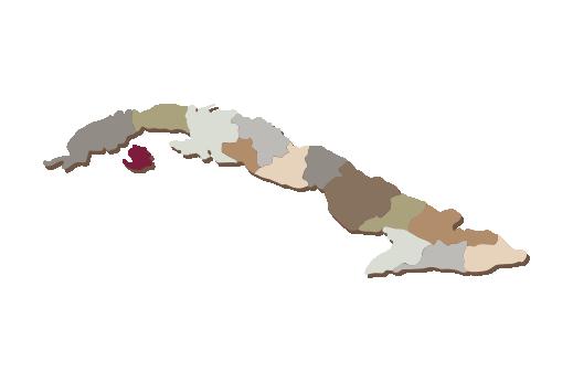Cultural Illustrations Map of Cuba Artwork