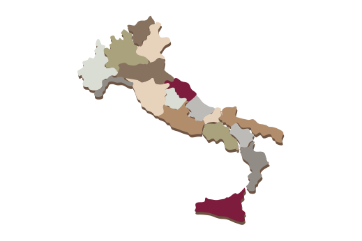 Cultural Illustrations Map of Italy Artwork
