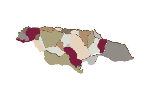 Cultural Illustrations Map of Jamaica Artwork