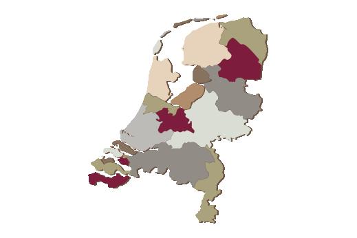 Cultural Illustrations Map of Netherlands Artwork