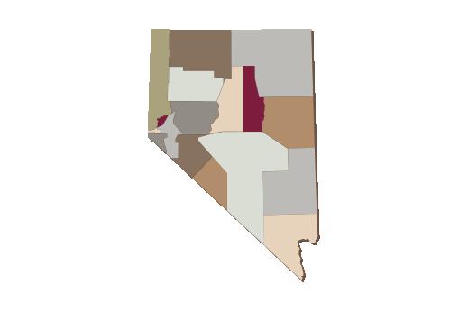 Cultural Illustrations Map of Nevada Artwork