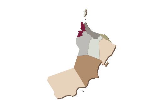Cultural Illustrations Map of Oman Artwork