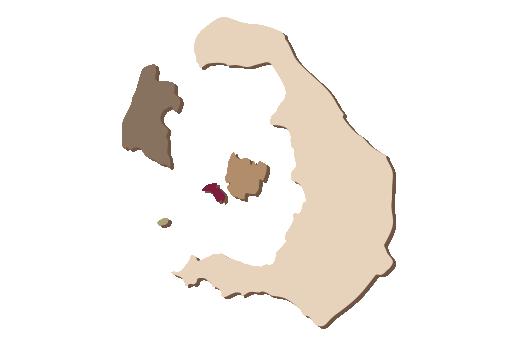 Cultural Illustrations Map of Santorini Artwork
