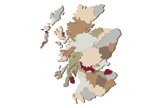 Cultural Illustrations Map of Scotland Artwork