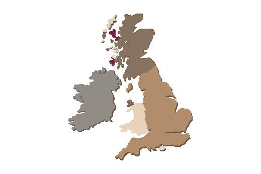 Cultural Illustrations Map of United Kingdom Artwork