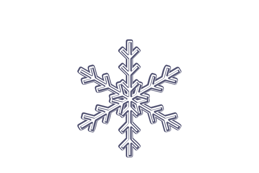 Winter and Holiday Snowflake Drawing 01 Artwork