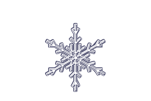 Winter and Holiday Snowflake Drawing 03 Artwork