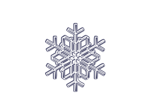 Winter and Holiday Snowflake Drawing 05 Artwork