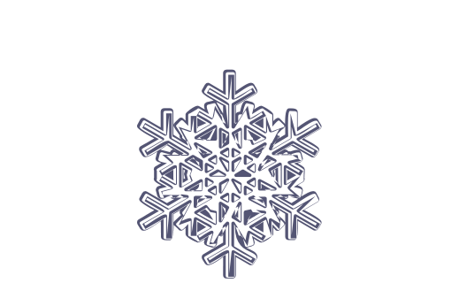 Winter and Holiday Snowflake Drawing 06 Artwork