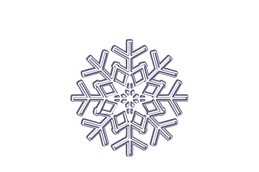 Winter and Holiday Snowflake Drawing 08 Artwork