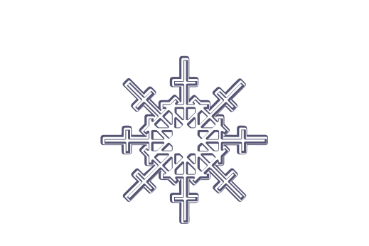 Winter and Holiday Snowflake Drawing 10 Artwork