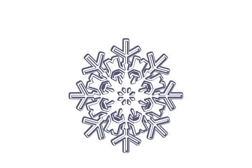 Winter and Holiday Snowflake Drawing 12 Artwork