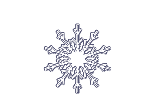 Winter and Holiday Snowflake Drawing 15 Artwork
