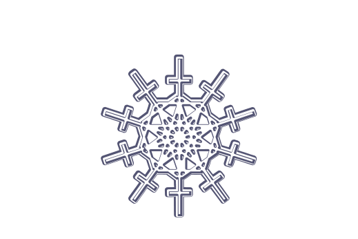 Winter and Holiday Snowflake Drawing 16 Artwork