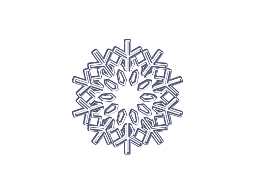 Winter and Holiday Snowflake Drawing 17 Artwork