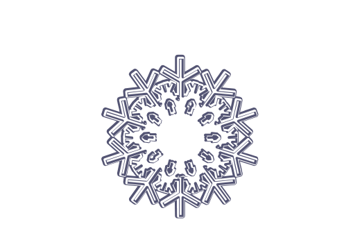 Winter and Holiday Snowflake Drawing 18 Artwork