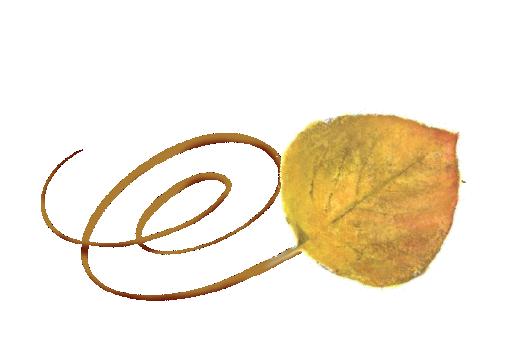 Spring Flowers, Autumn Leaves, Grapes Swirly Aspen Leaf Artwork