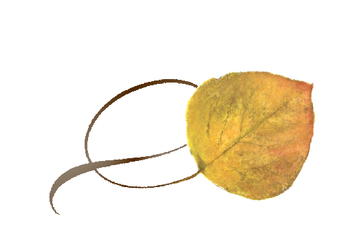 Spring Flowers, Autumn Leaves, Grapes Twisty Aspen Leaf Artwork