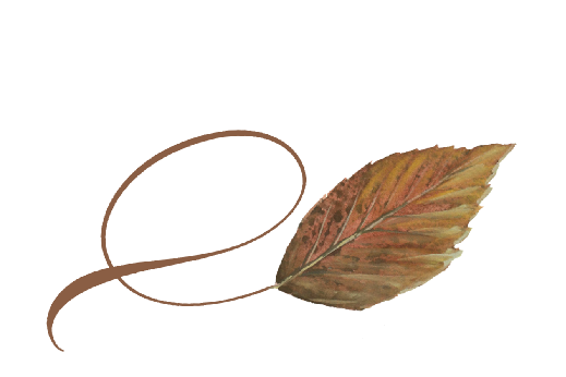 Spring Flowers, Autumn Leaves, Grapes Twisty Walnut Leaf Artwork