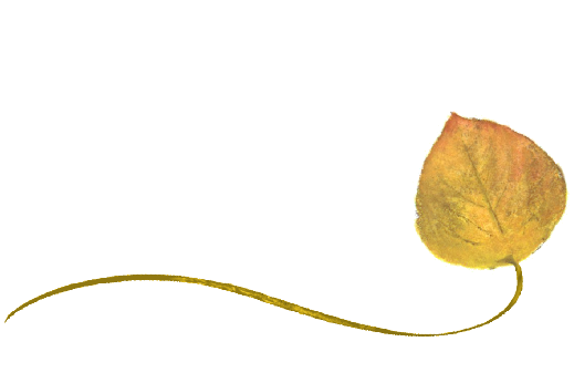 Spring Flowers, Autumn Leaves, Grapes Wispy Aspen Leaf Artwork