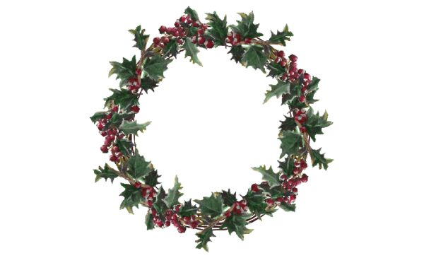 Winter and Holiday Wreath Artwork