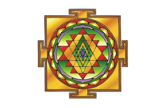 Cultural Illustrations Yantra (colored) Artwork