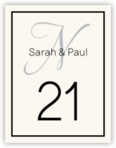 Adios Script Monogram 08 Wedding Table Number Cards
