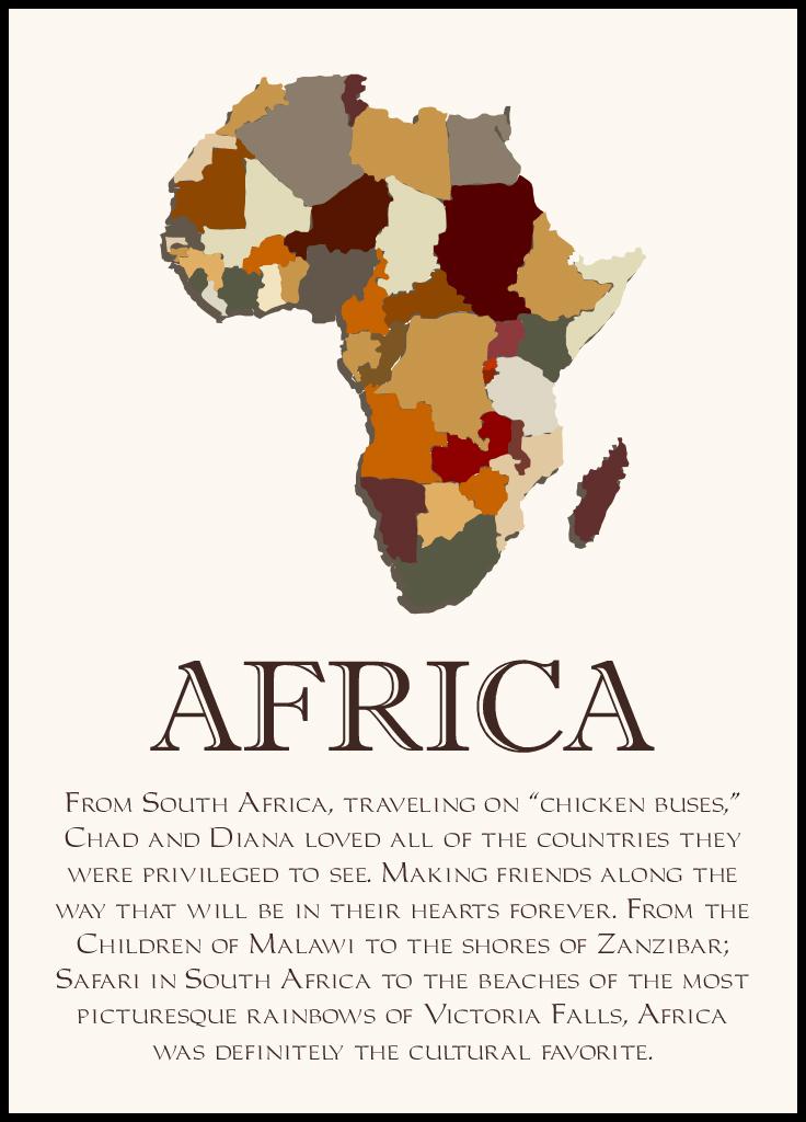 Map of Africa 2 Memorabilia Cards