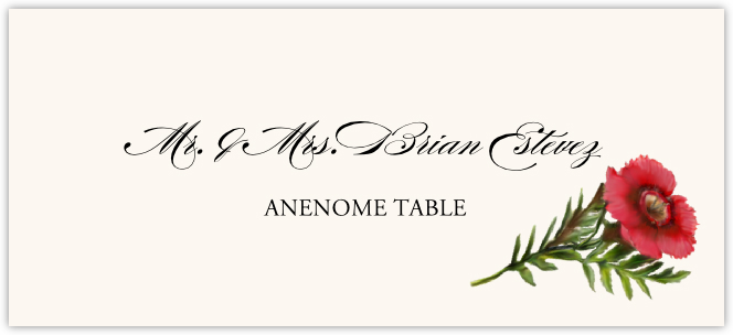 Anenome Place Cards