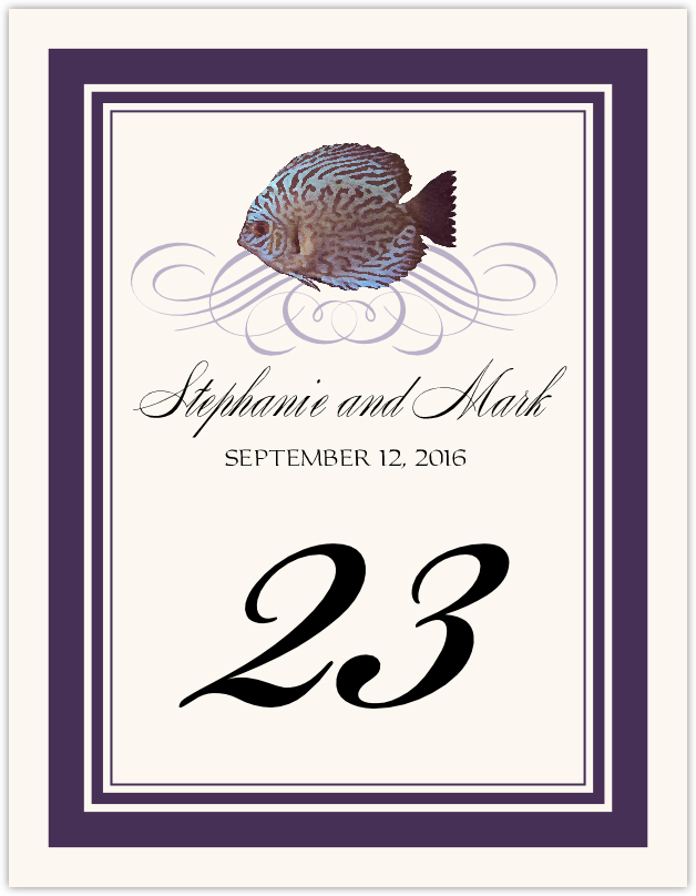 Blue Fish Superswirl Table Numbers