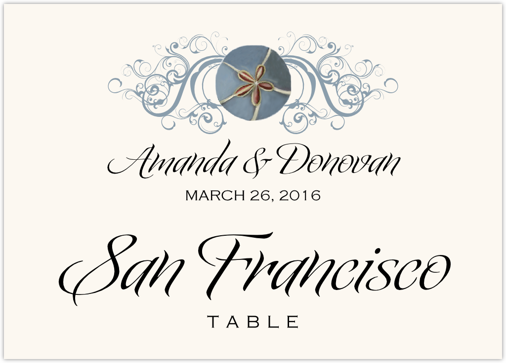 Blue Sand Dollar Table Names