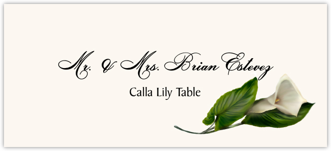 Calla Lily Place Cards