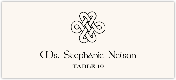 Celtic Knot Assortment Place Cards