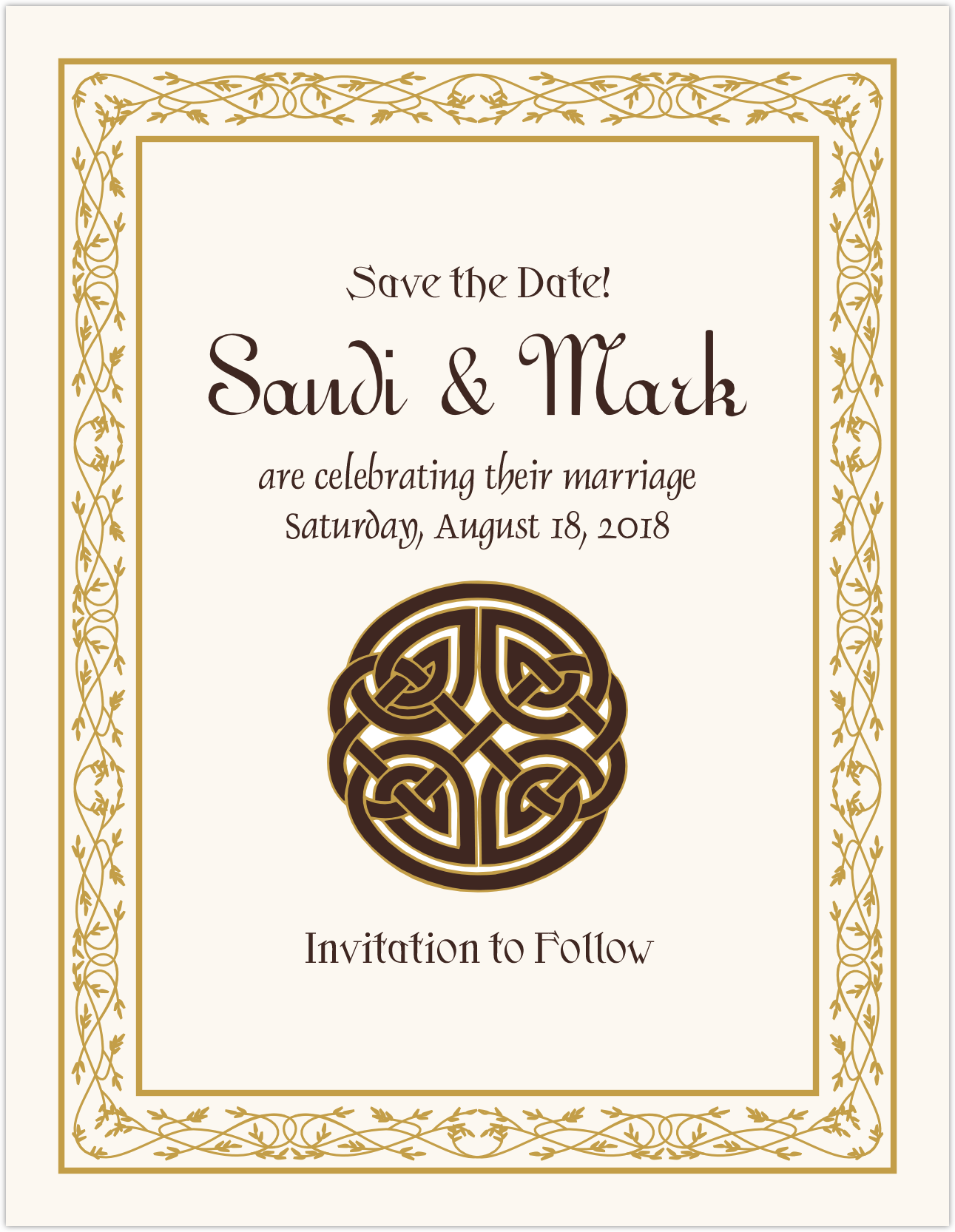 Celtic Knot Save the Dates