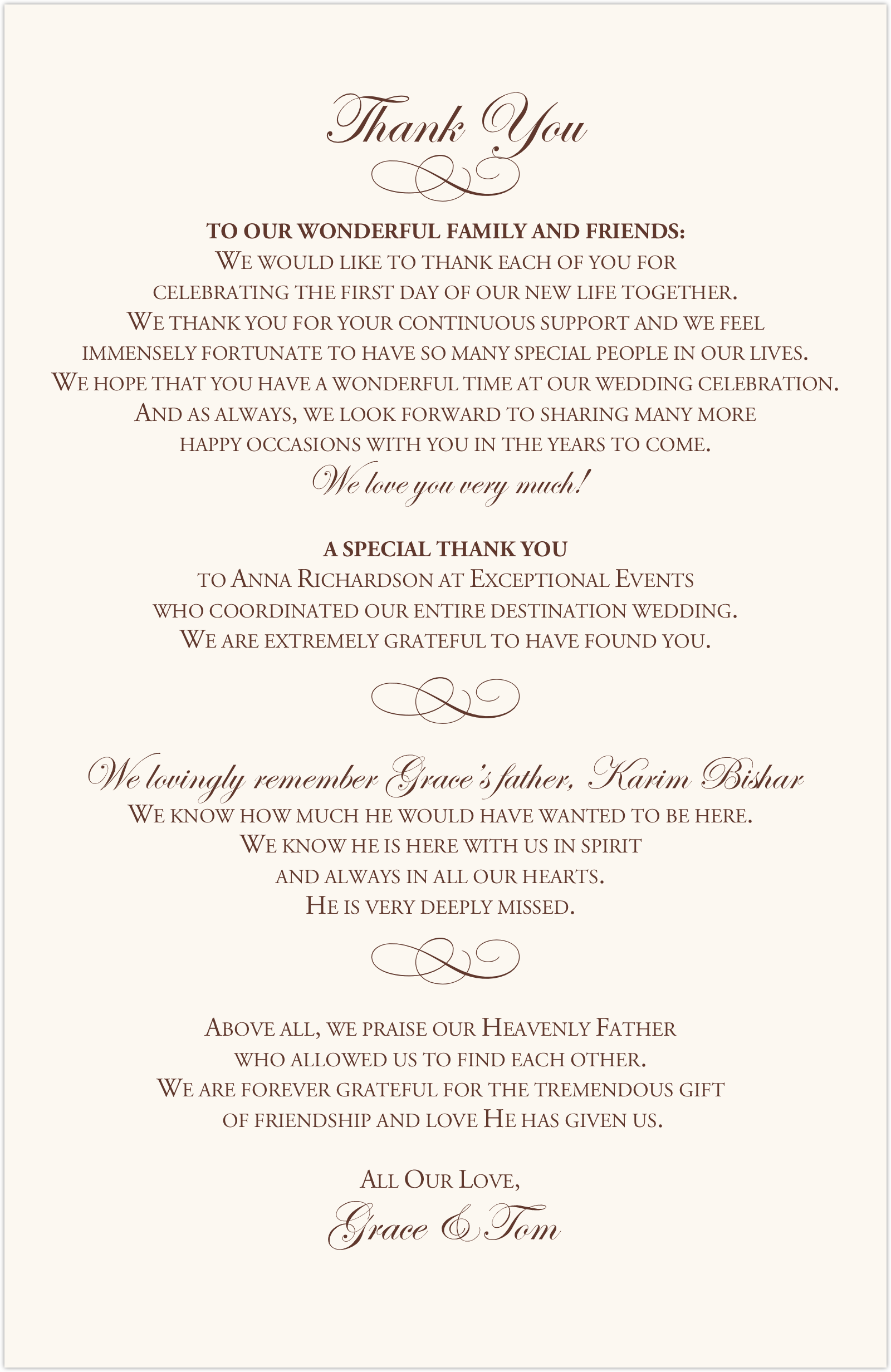 Celtic Leaf and Watermark Wedding Programs