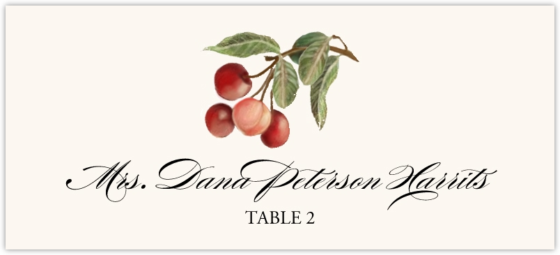Cherries Place Cards