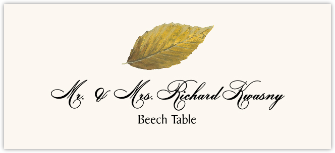 Beech Colorful Leaf Place Cards