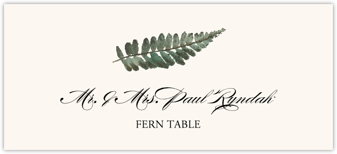 Fern Colorful Leaf Place Cards
