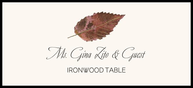 Ironwood Colorful Leaf Place Cards