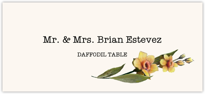 Daffodil Place Cards
