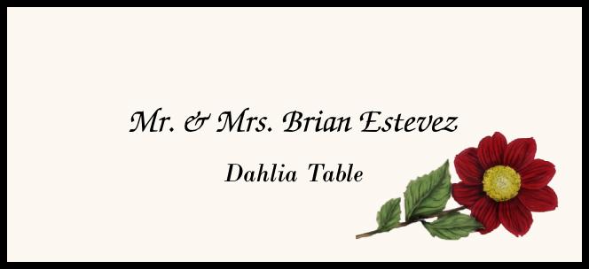 Dahlia Place Cards