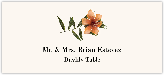Daylily Place Cards