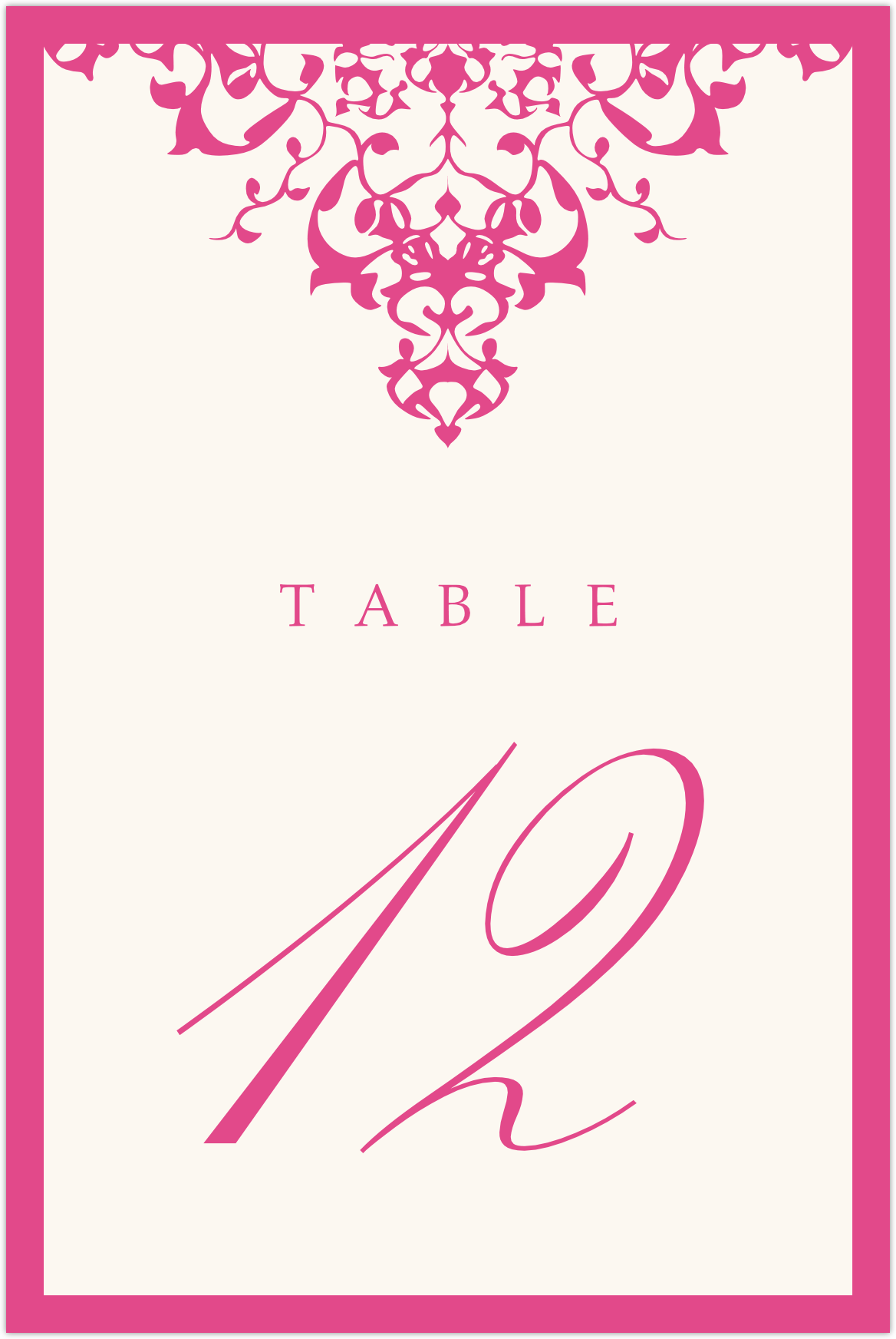Diamond Mandala Table Numbers