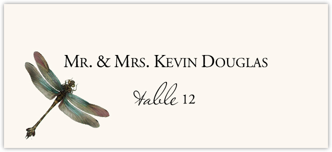 Dragonflies Place Cards