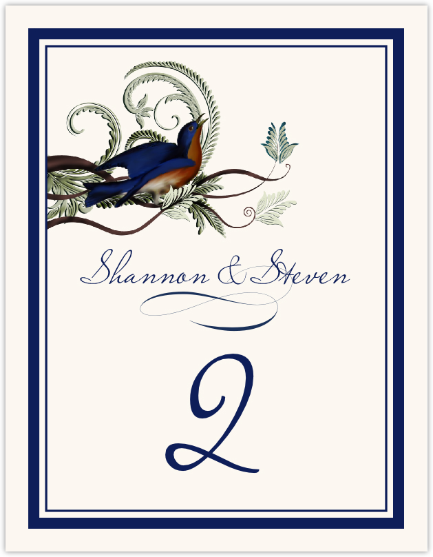 Elle Bluebird Table Numbers