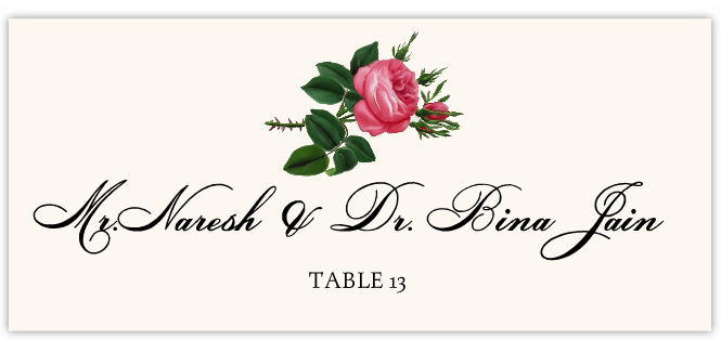 Roses Assortment Place Cards
