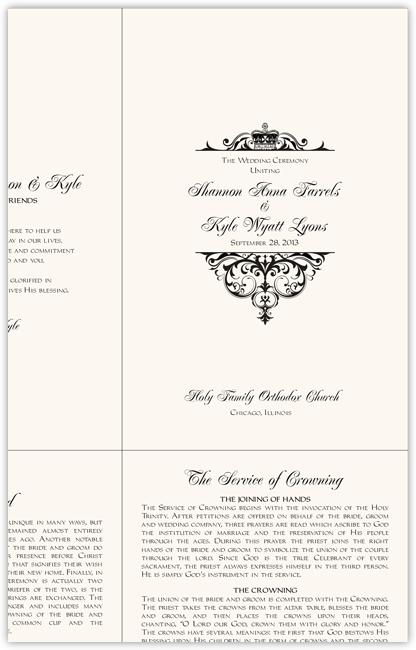 Family Medallion Wedding Ceremony Wording on Wording Templates For Greek And Russian Orthodox Wedding Ceremony